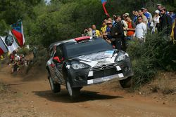 Kimi Raikkonen en Kaj Lindstrom, Citroen DS3 WRC, ICE 1 Racing