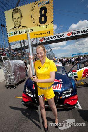 Grid girl for Mattias Ekström, Audi Sport Team Abt