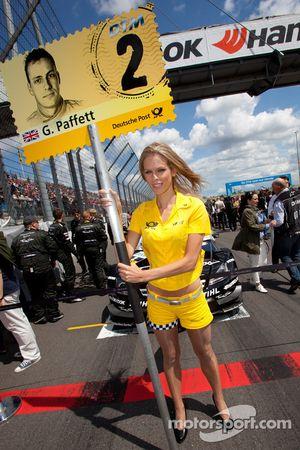Grid girl for Gary Paffett, Team HWA AMG Mercedes