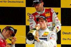 Podium: Bruno Spengler, Team HWA AMG Mercedes celebrates with champagne