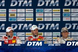Press conference: race winner Martin Tomczyk, Audi Sport Team Phoenix, second place Timo Scheider, A