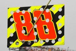 Dale Earnhardt Jr., Hendrick Motorsports Chevrolet pit board
