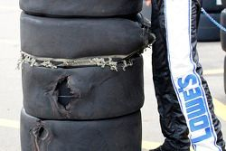 Blown tires