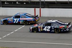 Andy Lally, TRG Motorsports Ford and Juan Pablo Montoya, Earnhardt Ganassi Racing Chevrolet