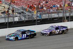 Denny Hamlin, Joe Gibbs Racing Toyota and Matt Kenseth, Roush Fenway Racing Ford