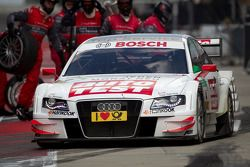 Pit stop for Timo Scheider, Audi Sport Team Abt Sportsline Audi A4 DTM