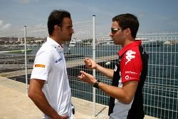 Vitantonio Liuzzi, Hispania Racing F1 Team, HRT ve Jerome d'Ambrosio, Marussia Virgin Racing