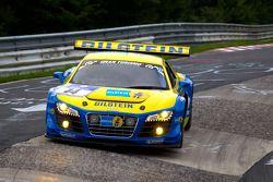 El #14 Audi Sport Team Phoenix Audi R8LMS: Marc Basseng, Marcel Fässler, Frank Stippler, Andrea Picc
