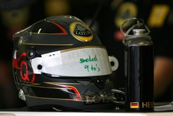 Helmet of Nick Heidfeld, Lotus Renault GP