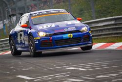 #117 Volkswagen Motorsport Volkswagen Scirocco: Giniel de Villiers, Nasser Al-Attiyah, Carlos Sainz, Klaus Niedzwiedz