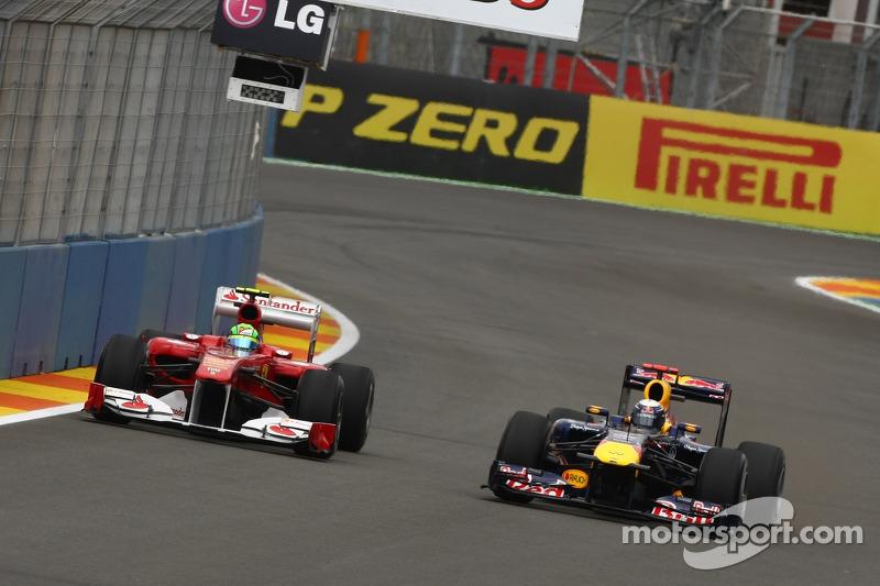 Fernando Alonso, Scuderia Ferrari ve Sebastian Vettel, Red Bull Racing