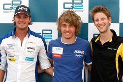 Charles Pic, Barwa Addax Team, Giedo Van der Garde, Barwa Addax Team and Romain Grosjean, Dams