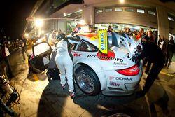 Pitstop #26 Sponsorcard MSC Adenau e.V. Porsche 997 GT3 R: Klaus Abbelen, Sabine Schmitz, Niklas Ken