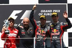 Fernando Alonso, Scuderia Ferrari, Sebastian Vettel, Red Bull Racing y Mark Webber, Red Bull Racing
