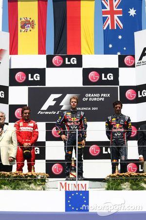 Фернандо Алонсо, Scuderia Ferrari, Себастьян Феттель, Red Bull Racing и Марк Уэббер, Red Bull Racing
