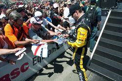 Paul Menard signs autographs for fans