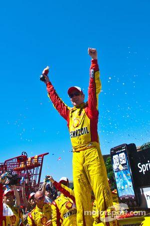 Post-race celebration for race winner Kurt Busch