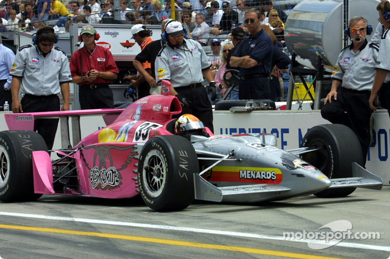 Jeff Ward and the Aerosmith-sponsored car
