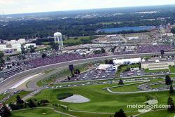 Вид на второй поворот Indianapolis Motor Speeway