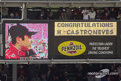 Congratulations to Helio Castroneves