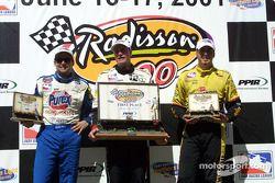 Robbie Buhl, Buddy Lazier et Sam Hornish Jr.