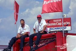 Preparing for the race: Firestone crew