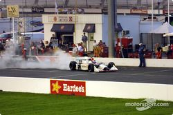 Didier André after a pitstop