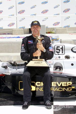 Race winner Eddie Cheever
