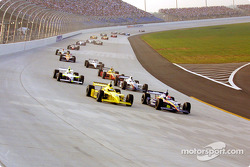 The start: Sam Hornish Jr. leading Greg Ray