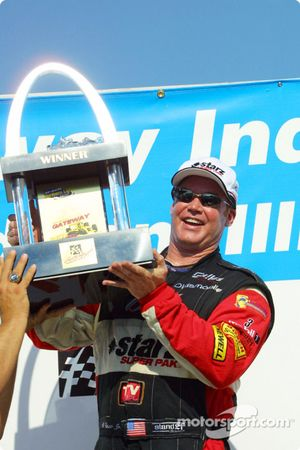 Al Unser Jr. and his trophy