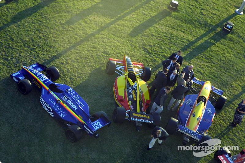 Indy Racing cars on display