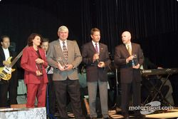 Manufacturer Awards were presented to Caterina Dallara (Dallara Automobili), Al Speyer (Bridgestone/