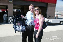 Jaques Lazier with his wife and newborn