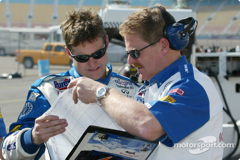 Robbie Buhl and team manager John O'Gara
