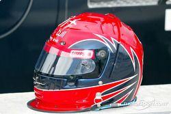 John de Vries' helmet