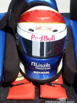 Eddie Cheever's helmet and headrest