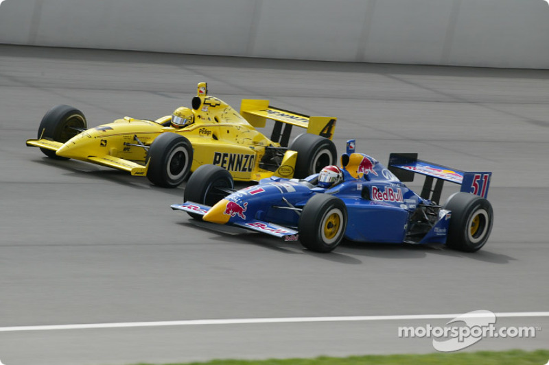 Sam Hornish Jr. et Eddie Cheever