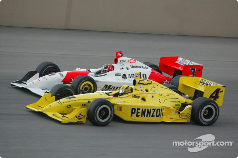 Sam Hornish Jr. et Helio Castroneves
