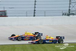 Champagne pour Michael Schumacher, Rubens Barrichello et Ross Brawn