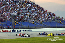 Green flag: Billy Boat leading the field