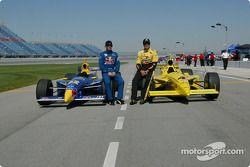 Buddy Rice and pole winner Sam Hornish Jr.