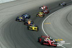 Tony Renna leading a group of cars