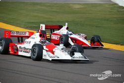 Helio Castroneves and Scott Sharp