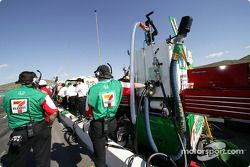 Andretti Green Racing pit area