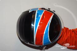 Arie Luyendyk's helmet
