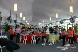Hospitality tent