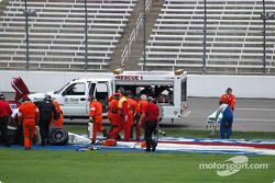 IRL safety team at work after Airton Daré's crash
