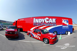 Indy Racing League IndyCar Series transporter and safety trucks