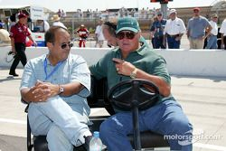 Jack Arute and A.J. Foyt