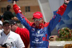 Victory lane: race winner Bryan Herta